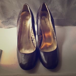 Charlotte Russe Shiny Brown Pumps🔥🔥🔥